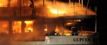 Пожар на теплоходе «Сергей Абрамов»: есть пострадавшие.