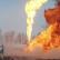 Пожар на одном из крупнейших нефтяных месторождений России.