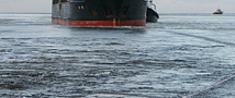 Аварийное судно «Ирина» унесено штормом в Тихий океан.