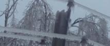В Краснодарском крае в сильнейший мороз люди остались без электричества.