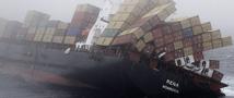 В водах Новой Зеландии сухогруз не выдержал натиска стихии.