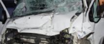 В Подмосковье «КамАЗ» врезался в маршрутное такси