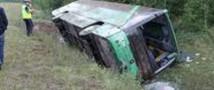 Автобус перевернулся в Ивановской области