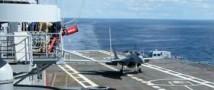 На палубу авианосца Китай успешно испытал посадку истребителя