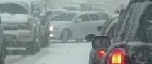 В Марий Эл из-за снегопада столкнулись 20 автомобилей