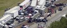 Около 100 машин столкнулись в Австрии.