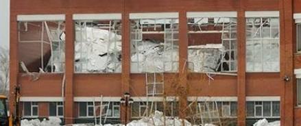 В школе обрушилась крыша