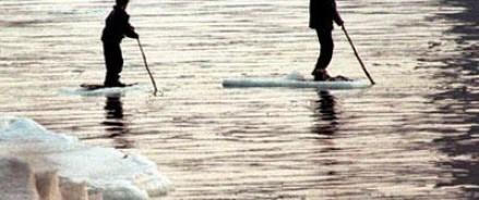 На льдине в Калининградской области оказались 15 рыбаков.