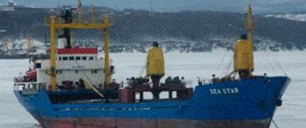 В Японском море терпит бедствие судно с российскими моряками