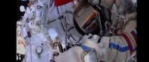 Российский флаг в открытом космосе