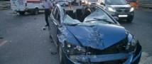На Новорижском шоссе столкнулось 7 автомобилей, образовалась пробка в 10 км