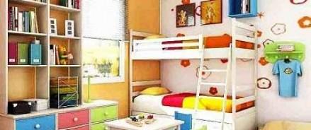 Оборудование детской комнаты, где живет несколько детей