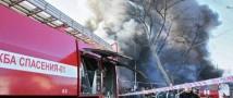 В Грозном произошел большой пожар на центральном рынке