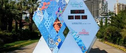 В Сочи  сломались часы считающие время до начала Олимпиады
