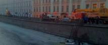 В Санкт-Петербурге машина ДПС упала в канал Грибоедова