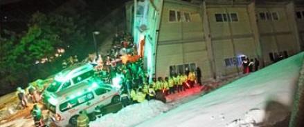 Увеличилось число жертв в обрушенном здании в Южной Кореи
