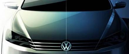 В интернете появились фото-эскизы обновленного седана Volkswagen Passat