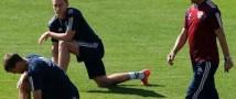 Сборная России по футболу провела подготовку к предстоящему матчу