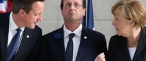 Лидеры Великобритании, Франции и Германии  обсудили возможные санкции против России