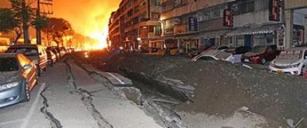 В результате подземных взрывов число жертв в Тайване возросло до 24 человек