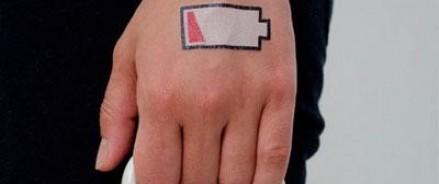 Био-татуировку, создающею электроэнергию из пота, создали американские ученые