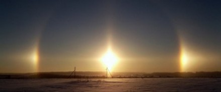 В Челябинске можно было наблюдать вхождение «трех солнц»