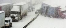 Аномальный снегопад и гололёд на крымском полуострове привел к многочисленным ДТП