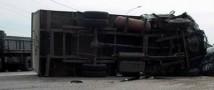 На востоке российской столицы на МКАД участниками аварии стали три большегруза