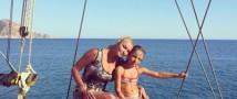 Волочкова учит дочку своим коронным позам для фотосессий