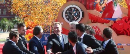 В Москве запустили обратный отсчет до Всемирного футбольного чемпионата 2018 года