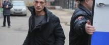 Сгорел вход в здание ФСБ в Санкт-Петербурге