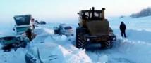 Оренбургскую область накрыло снегопадом