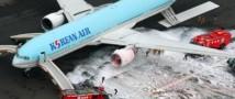 Корейский Боинг 777 воспламенился при взлёте (фото+видео)