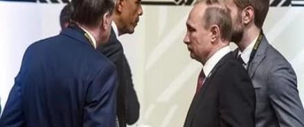 Обама рассказал прессе о краткой беседе с Путиным