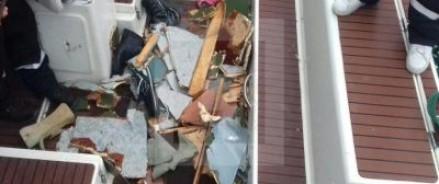 С утра на сочинский берег доставлены обломки фюзеляжа и еще два тела