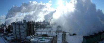 Горит химзавод в Тольятти