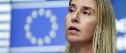 Могерини заявила, что ЕС за ввод миротворцев на всю территорию Донбасса