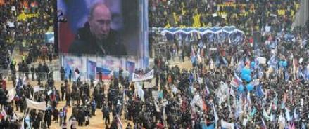 Путин в «Лужниках» гарантировал народу яркие победы и счастливую жизнь для будущих поколений