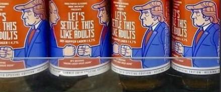 Пиво с этикетками, где изображены Путин и Трамп, уходит с молотка