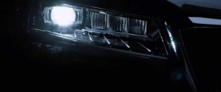 Skoda Superb Teaser демонстрирует светодиодные матричные фары