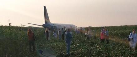 В результате аварийной посадки самолета пострадали 23 человека