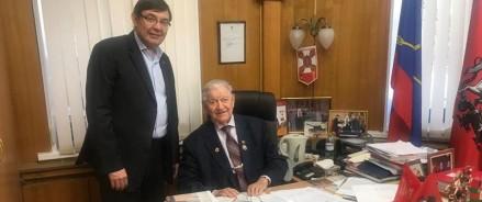 Московский ОНФ поздравил Ивана Слухая с 75-летием освобождения Белграда