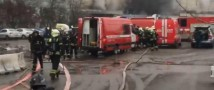 На северо-западе Москвы горит автосервис
