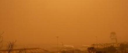 Песчаная буря из Сахары на Канарских островах