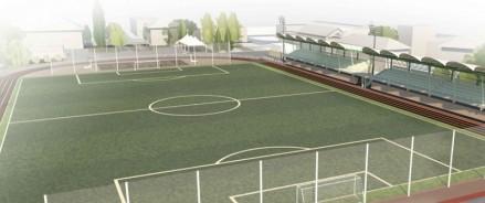 В Гатчине реконструируют стадион «Спартак», построенный в начале прошлого века