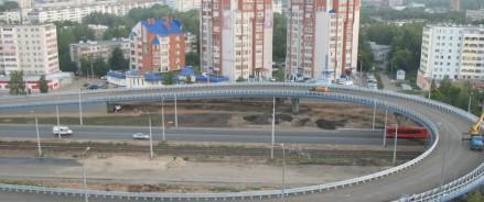 В столице Татарстана на участке Большого казанского кольцаначали укладывать трамвайные линии