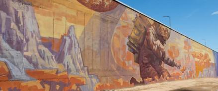 В Казани появилось гигантское граффити, посвященное детским мечтам о космосе