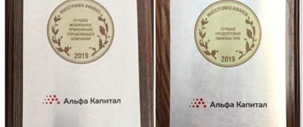 УК «Альфа-Капитал» получила две награды Investfunds Awards