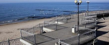 В госрезиденции «Янтарь» в Пионерском реконструируют променад у моря
