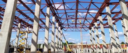 Ферро-Строй изготовил и соорудил гипермаркет из металлоконструкций «Декатлон»